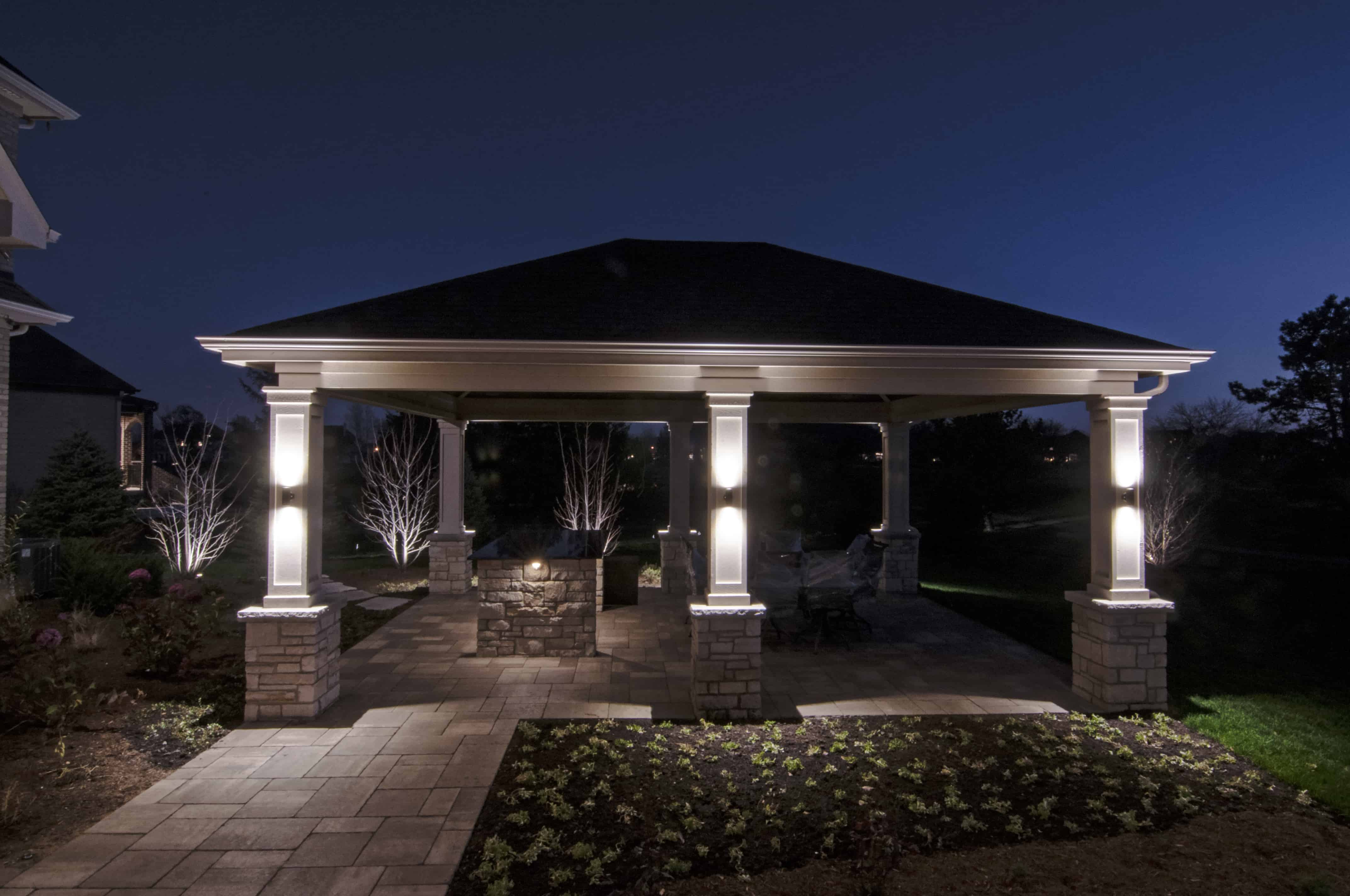 Landscape lighting chicago democraciaejustica gazebo pergolas and pavilions outdoor lighting in aloadofball Image collections
