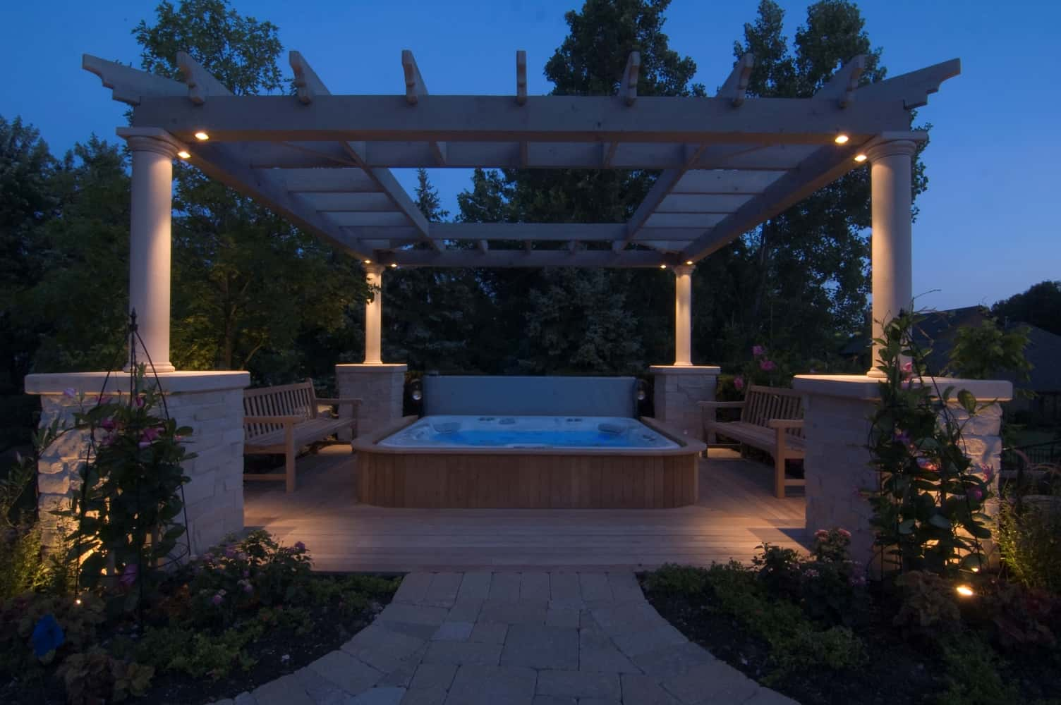 Gazebo Pergolas And Pavilions Outdoor Lighting In Chicago
