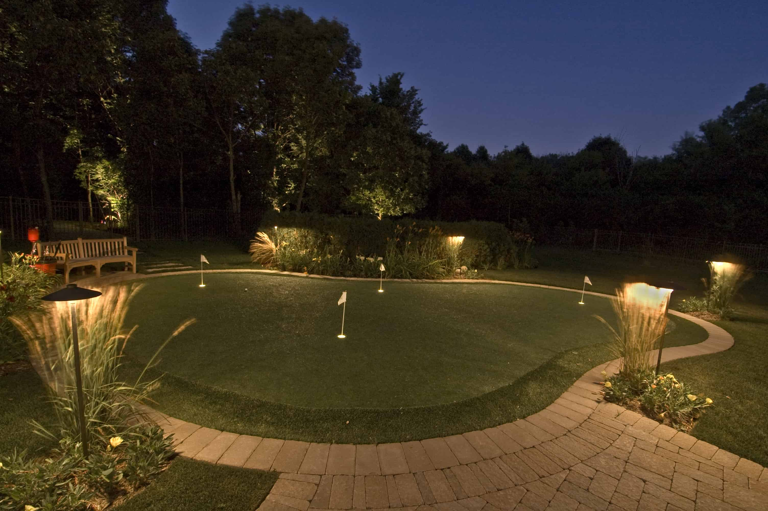 Sport and recreation outdoor lighting in chicago il outdoor accents lemont putting green lighting aloadofball Choice Image