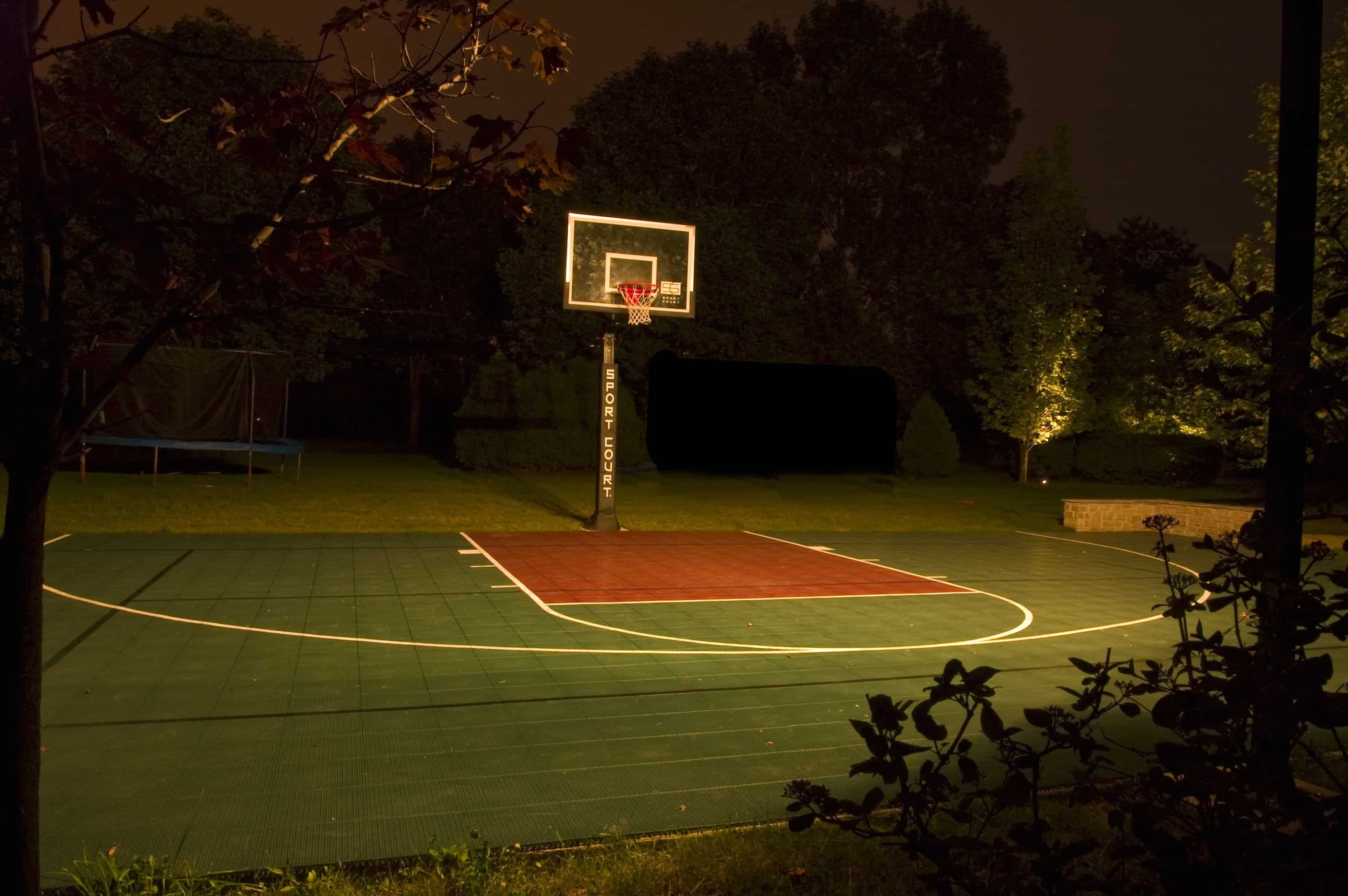 Burr Ridge Basketball Court Lighting