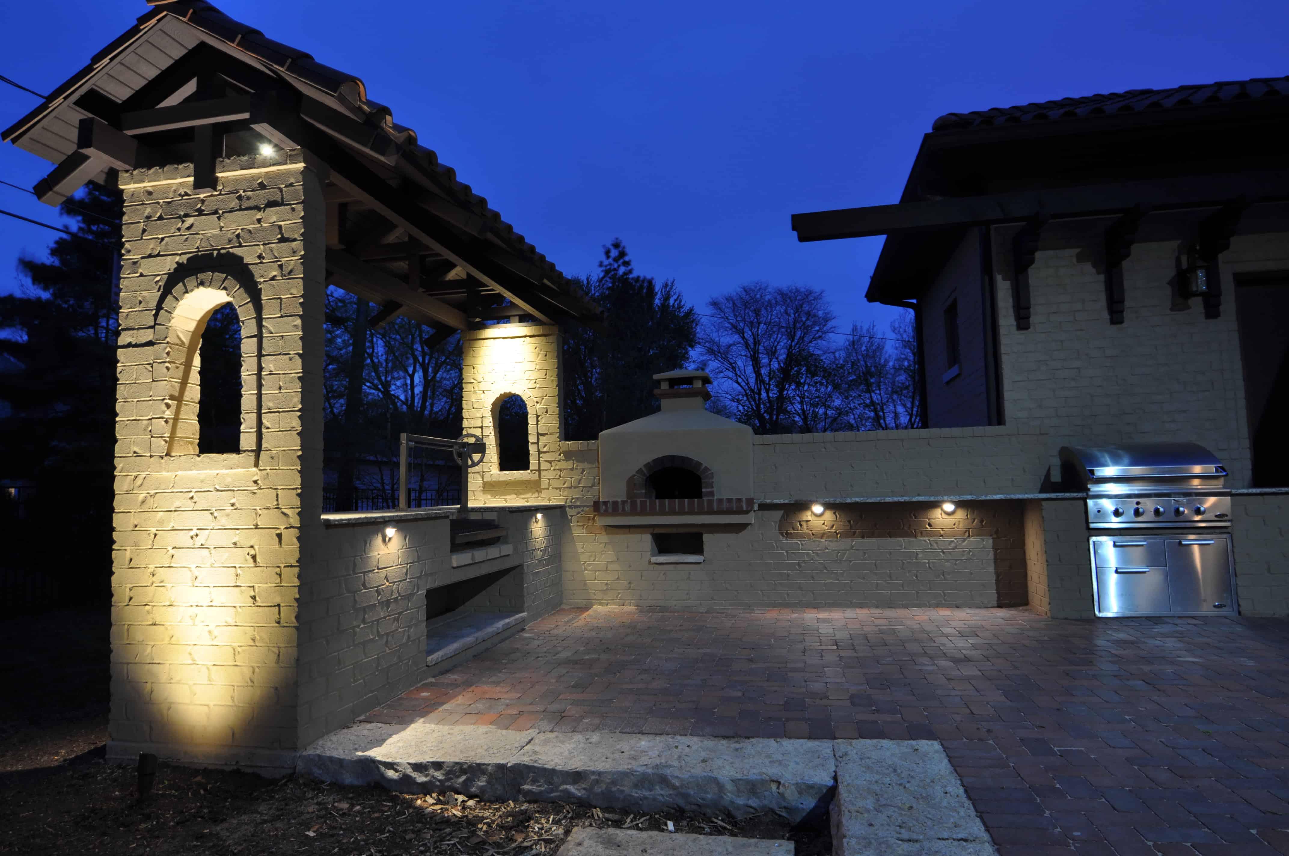 Western Springs Outdoor Kitchen Lighting - Outdoor Lighting ...