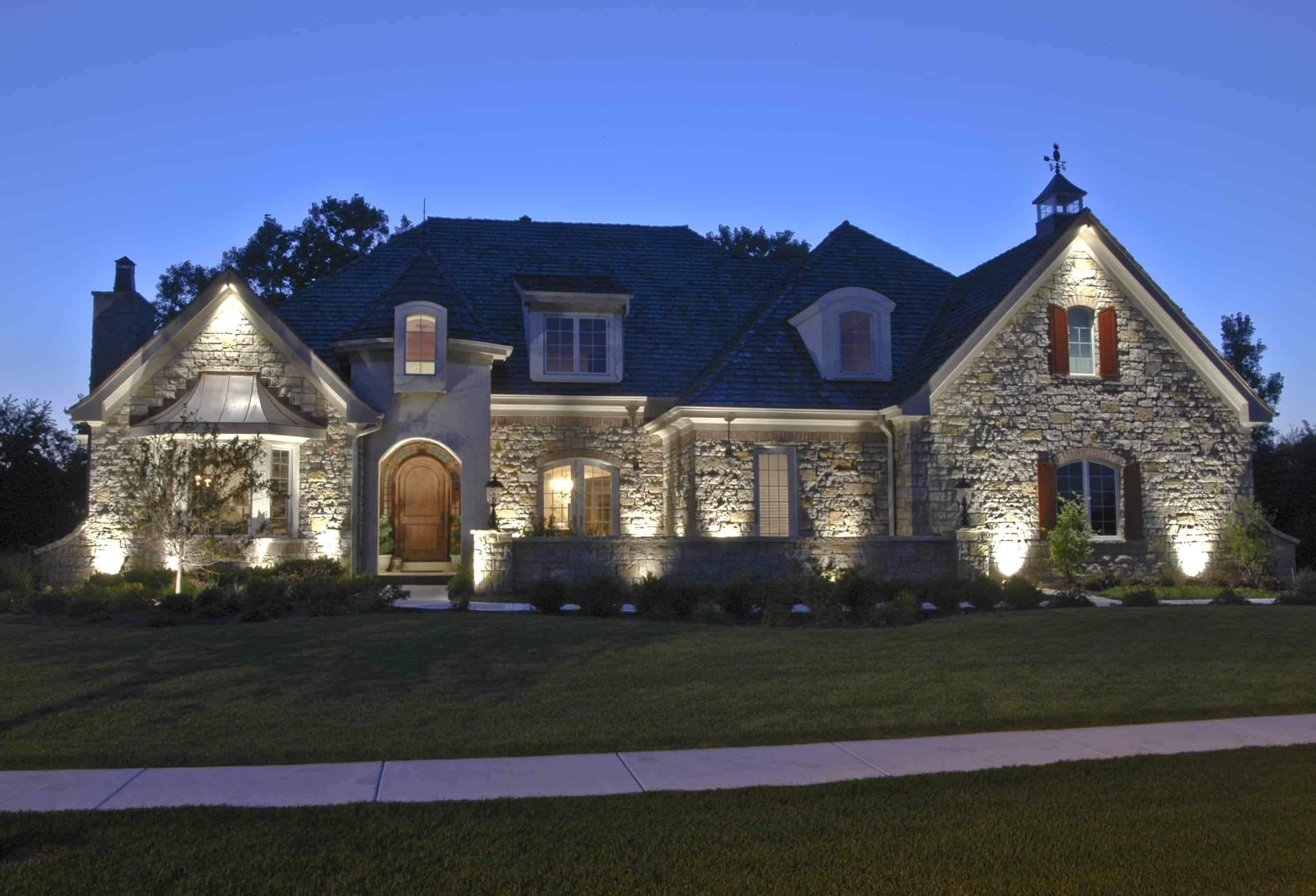 Shorewood residential lighting outdoor lighting in chicago il outdoor accents Exterior accent lighting for home