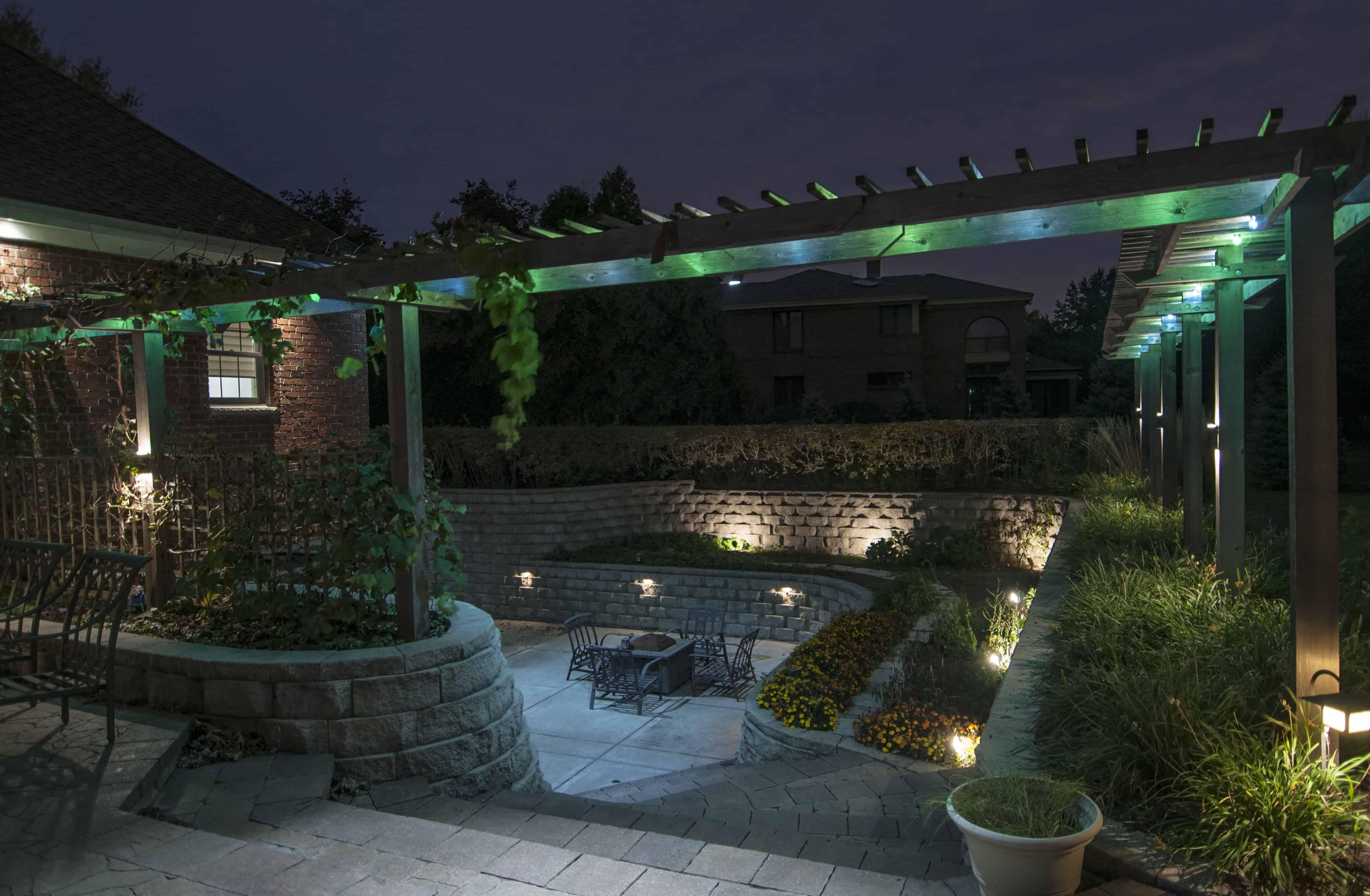Schereville In Pergola Lighting Outdoor Lighting In