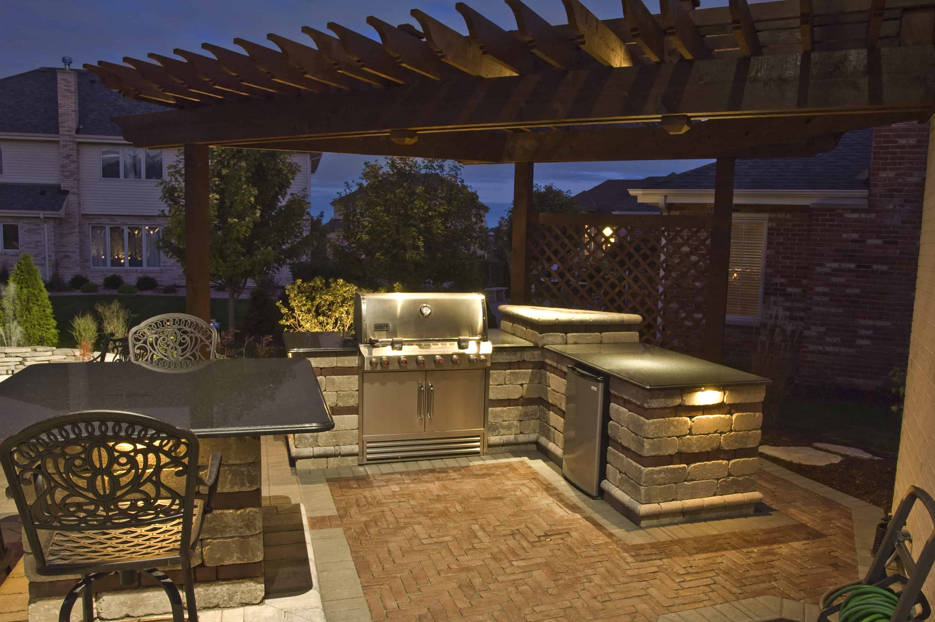 Kitchen bars and grills outdoor lighting in chicago il outdoor palos park grill lighting aloadofball Gallery
