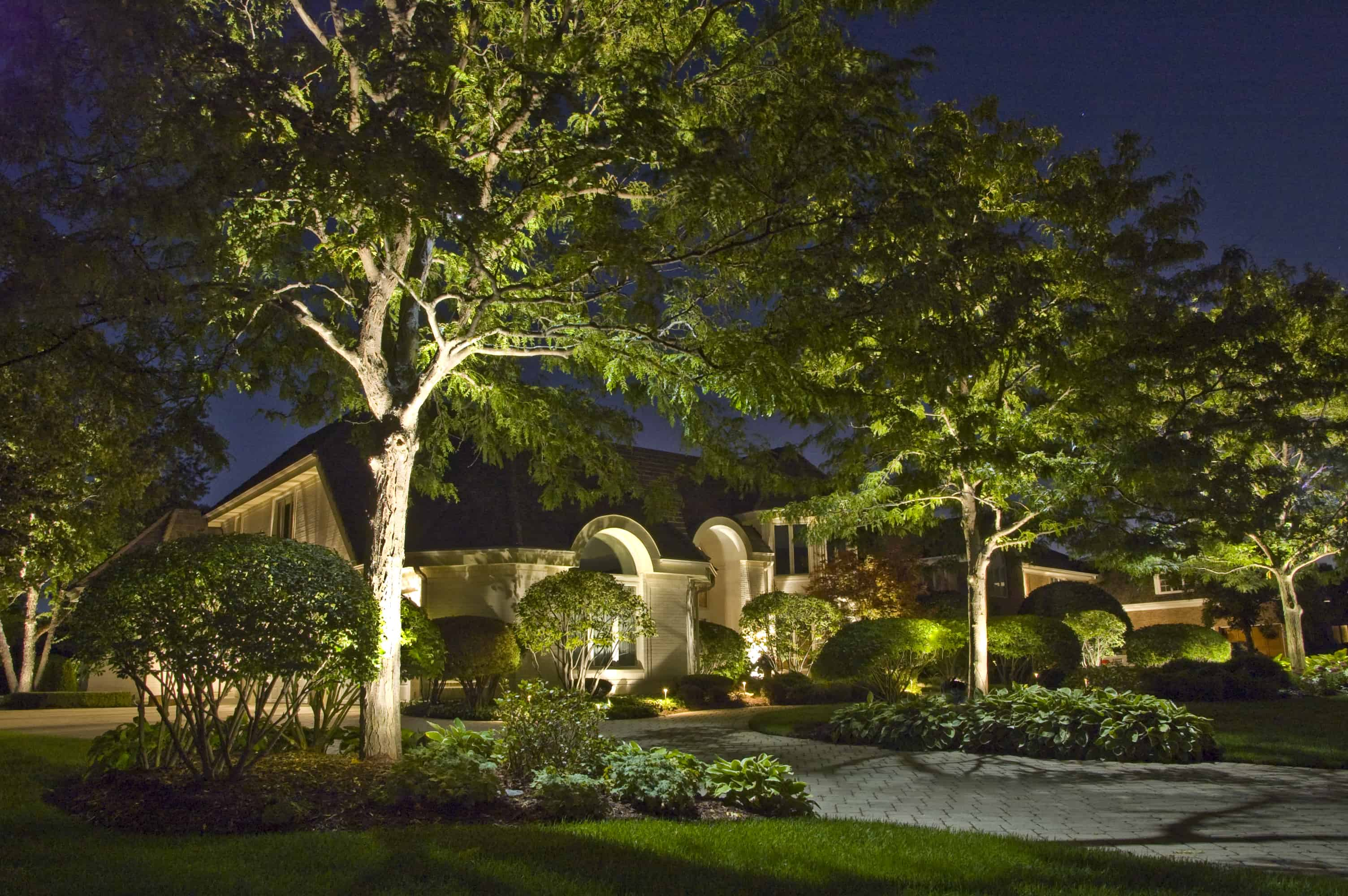 Landscape lighting outdoor lighting in chicago il outdoor accents moon lighting landscape lighting aloadofball Images