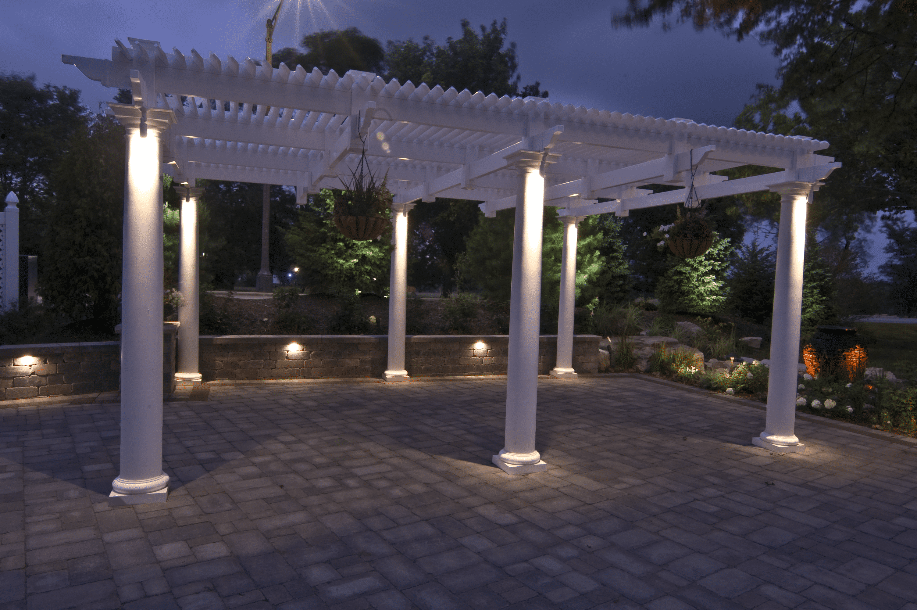 Lewis University Pergola Lighting Outdoor Lighting in Chicago IL