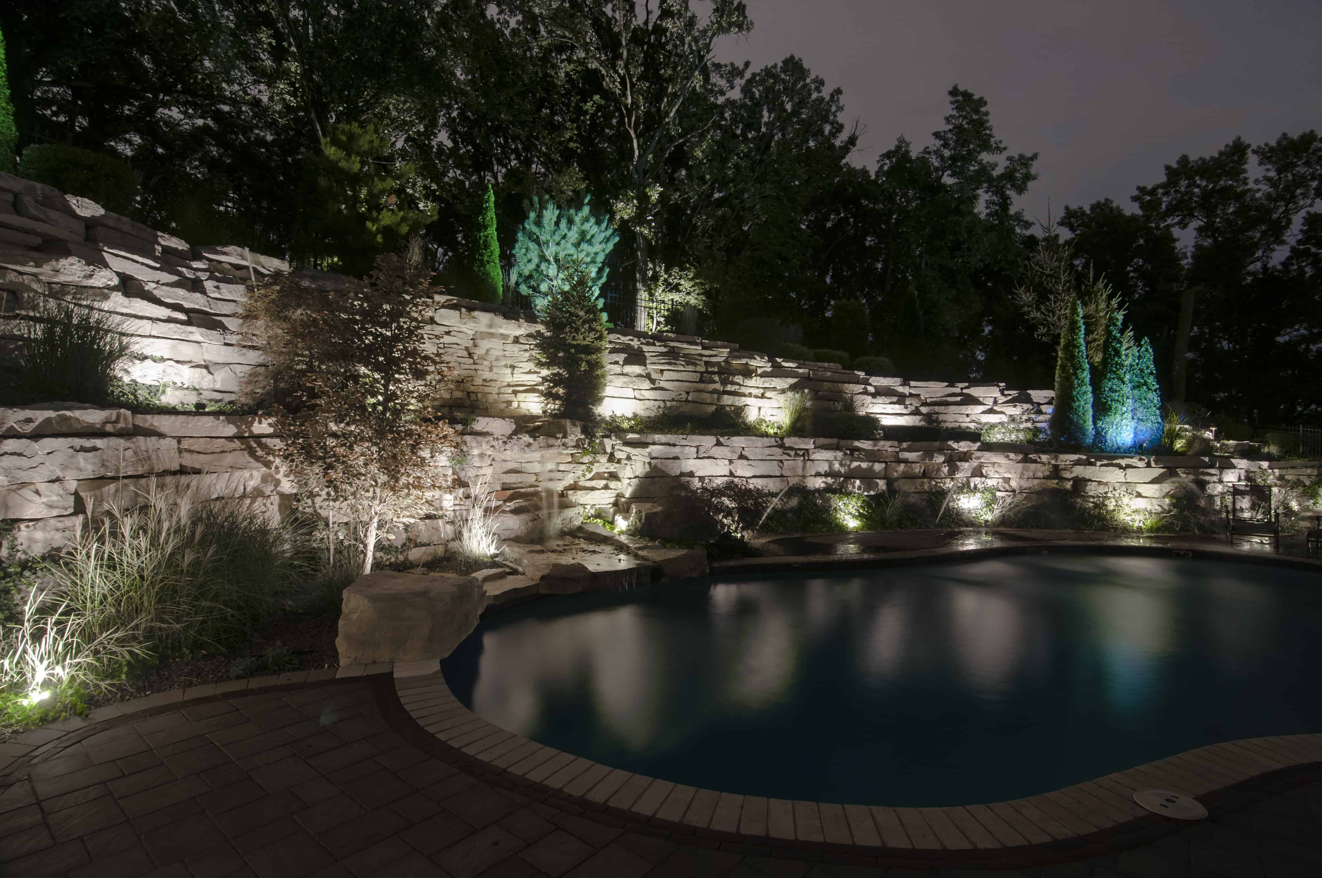 Hardscapes outdoor lighting in chicago il outdoor accents orland park retaining wall lighting aloadofball Choice Image