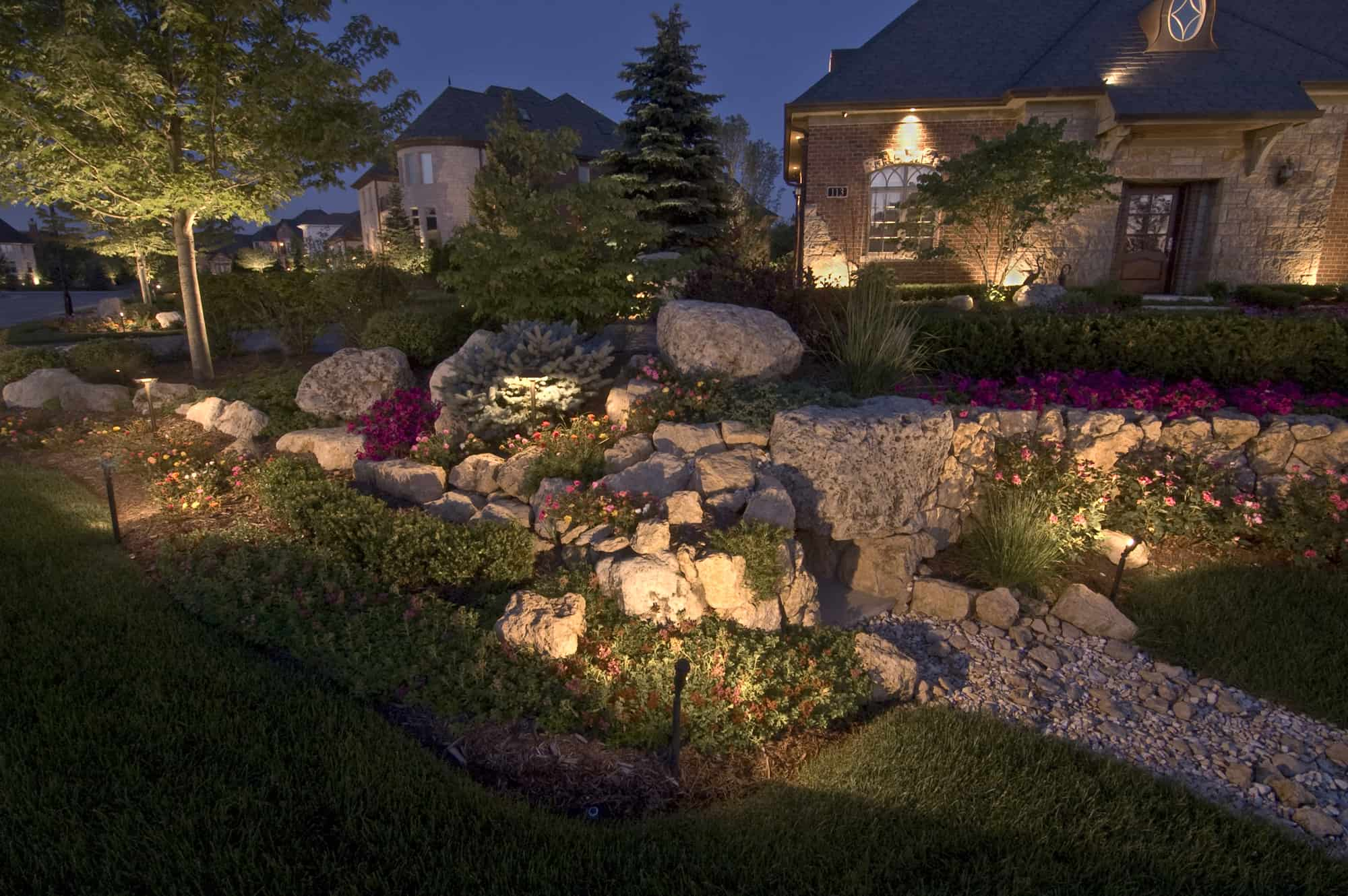 Accent lighting outdoor lighting in chicago il outdoor accents palos park accent lighting aloadofball Choice Image
