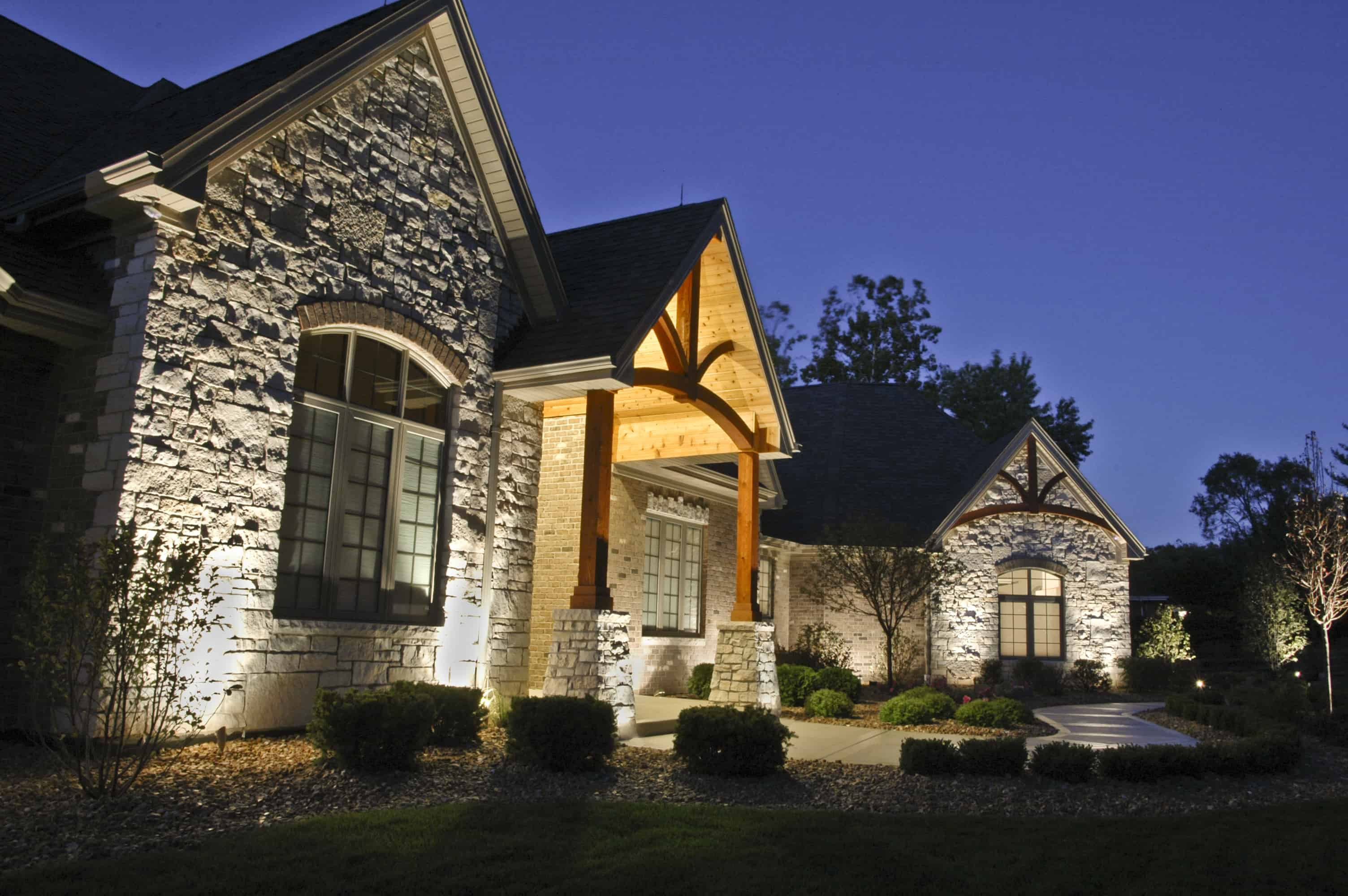 Palos park residential lighting outdoor lighting in chicago il outdoor accents Exterior accent lighting for home